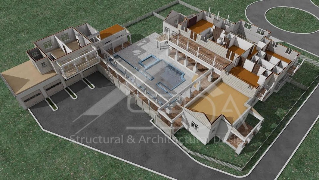2 story residential house-Architectural design structural designing