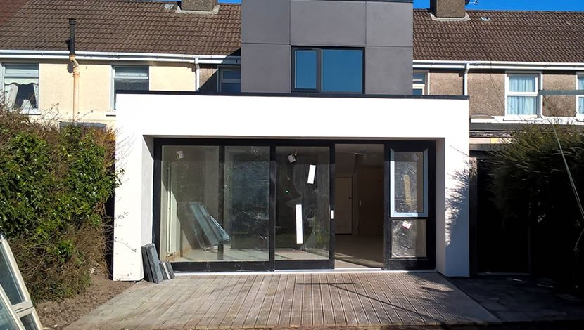 Box frame - house extension in the UK
