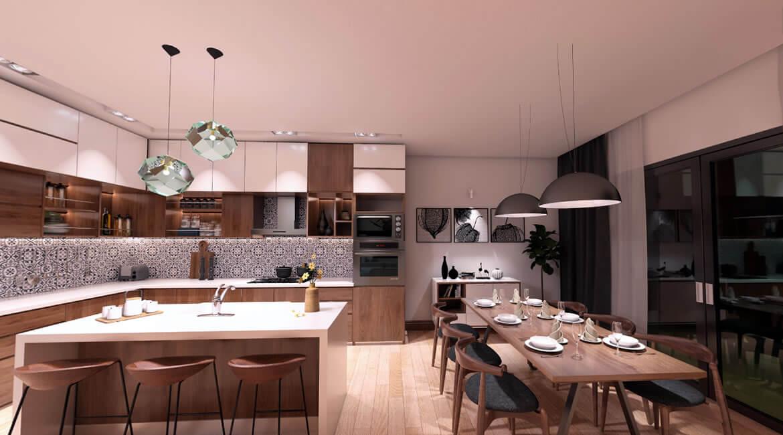 House interior design- dining room - panorama 360