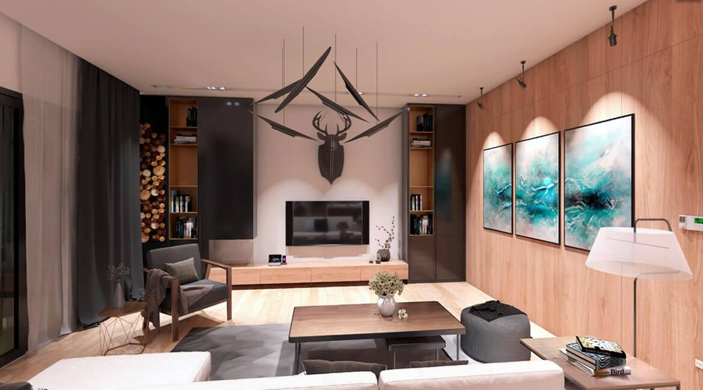 Santa Barbara House Interior Design | 360 panorama | 3D visualization CA