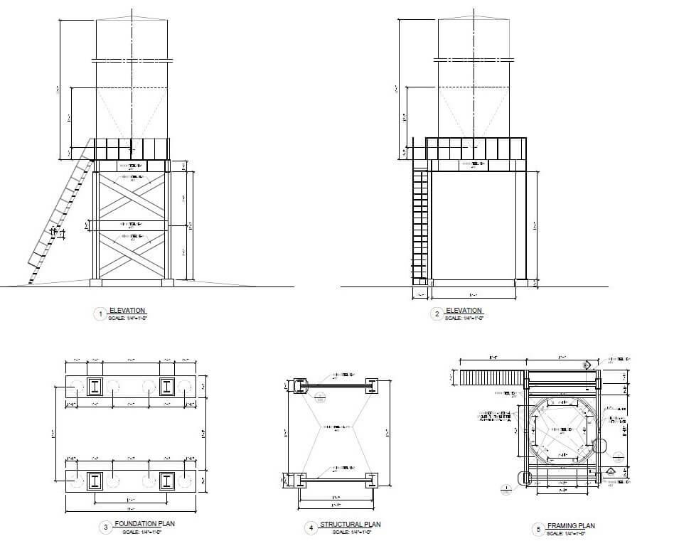 Design of a silo in Minco, Oklahoma