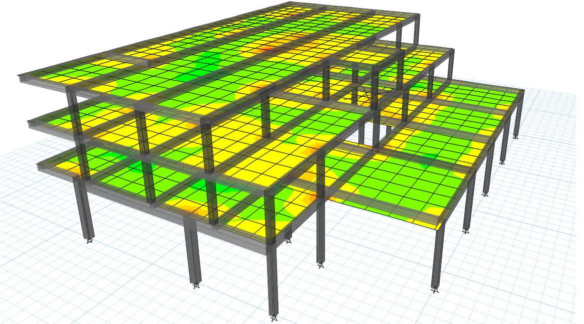 Full concrete frame structure for 3 story building
