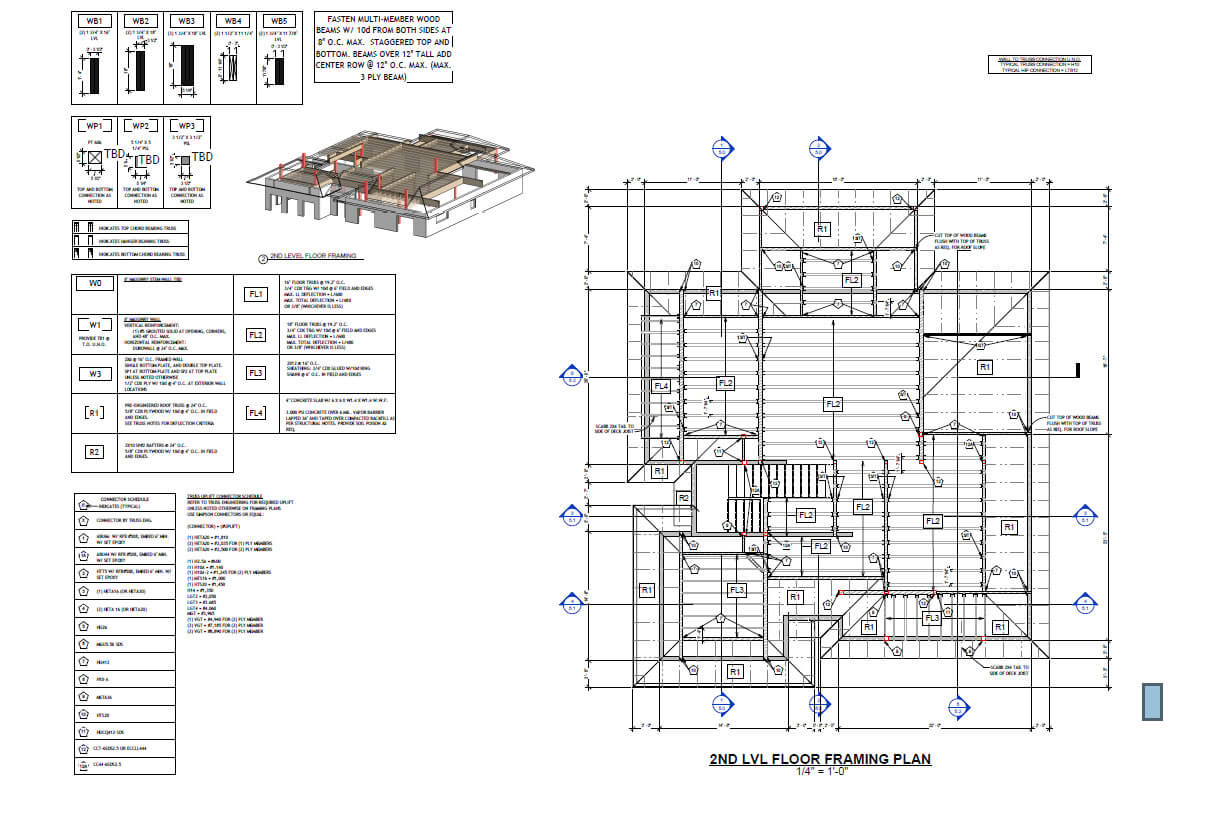 Wood structure home Florida- Floor framing