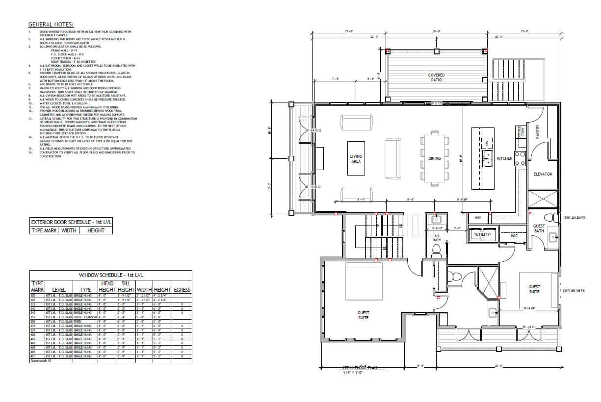 Wood structure home Florida- Floor plan