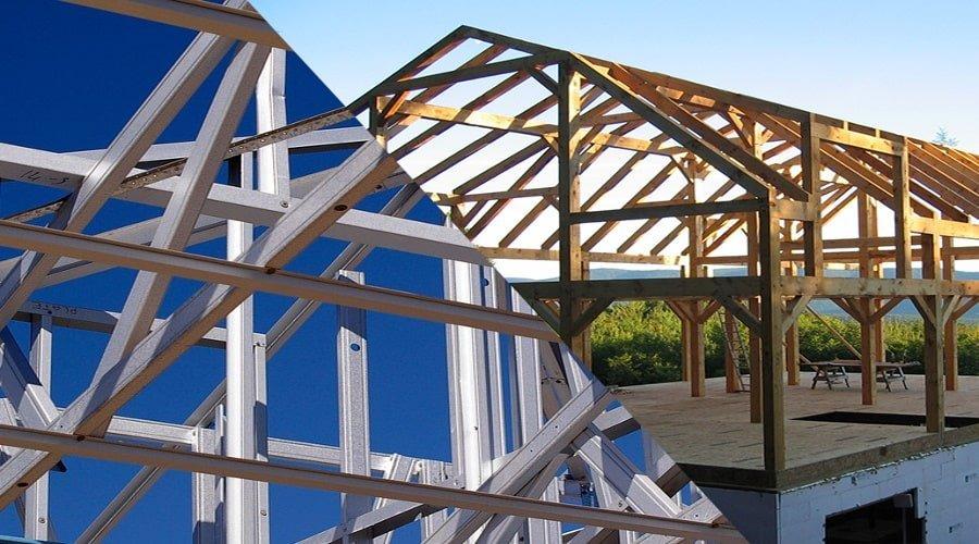Light Gauge Steel or Lumber
