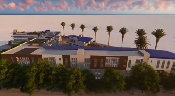 Blue Wave mixed-use hotel and apartment complex for Imperial Beach