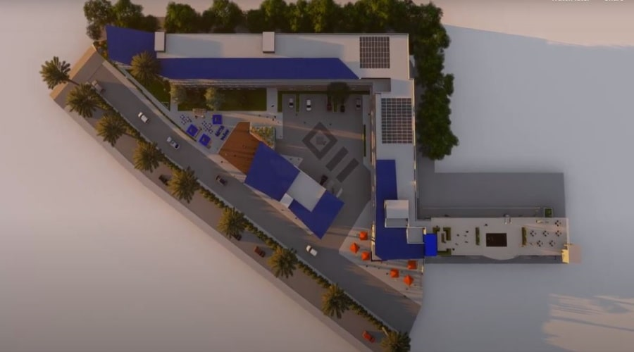 Blue Wave mixed-use hotel and apartment complex