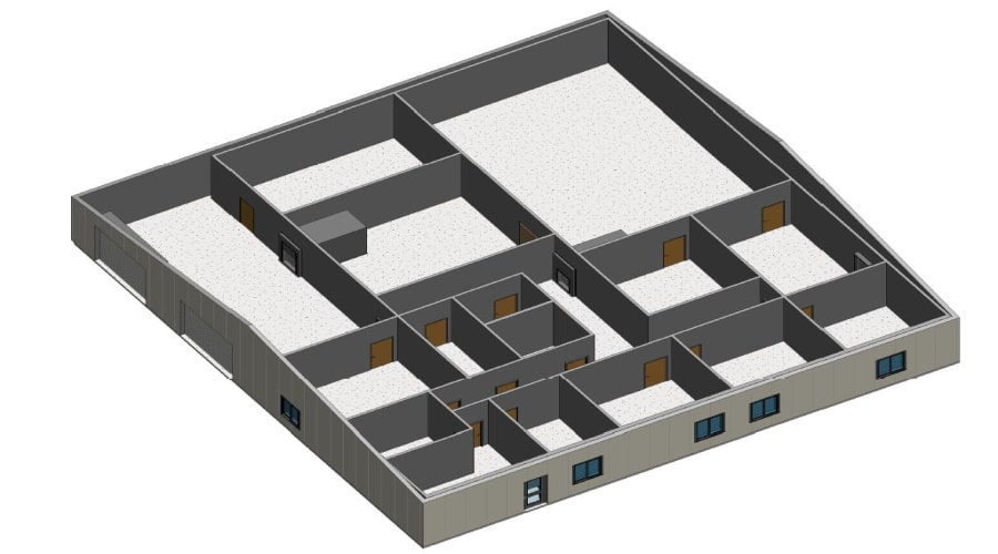 Structural, MEP and sprinkler design and Title 24 for an industrial building